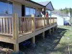 A new deck completed.