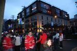 Crowds gather in Mainland Street Yaletown